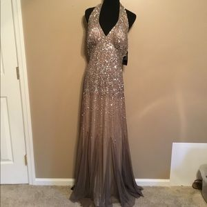Nightway Sequined Mauve Formal Dress